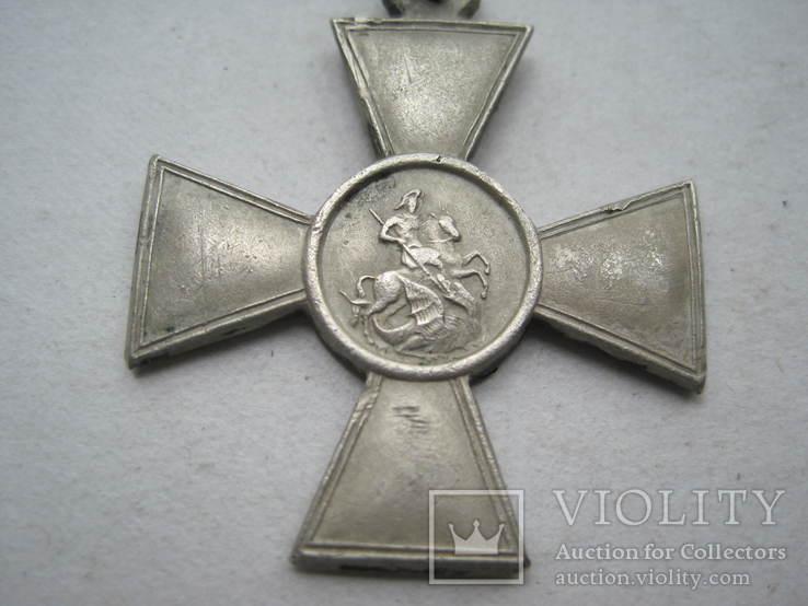 Георгиевский крест 4 ст. 273035 с определением на улана, фото №3