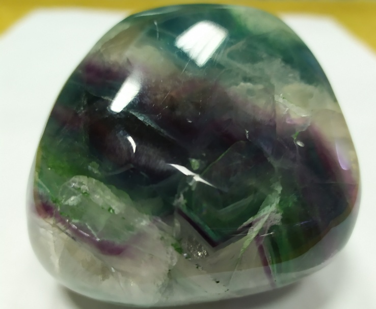 Образец в коллекцию минералов. Флюорит. Галтель флюорита., фото №5