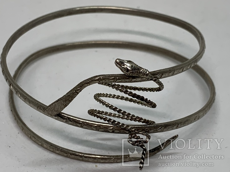 Браслет+кольцо в виде змеи, фото №2
