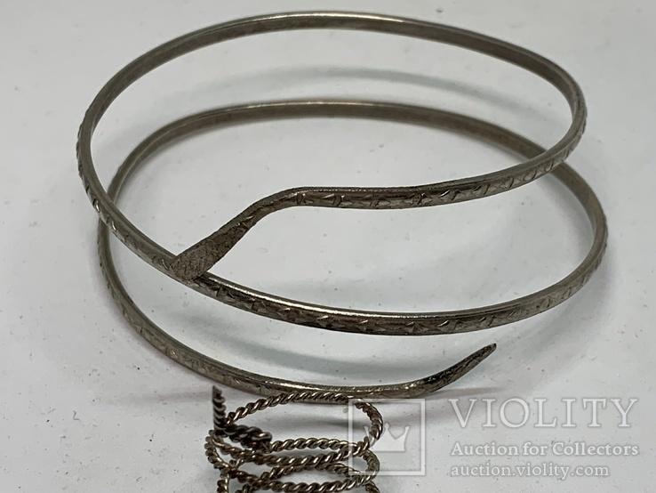 Браслет+кольцо в виде змеи, фото №4