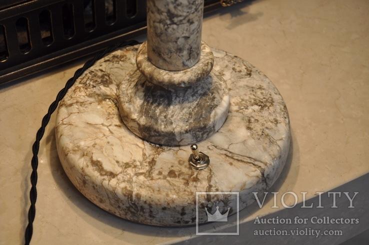 Антикварная настольная лампа, фото №3