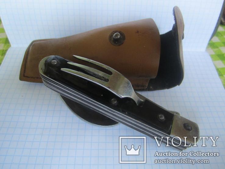 Нож складной Москва с вилкой и ложкой.