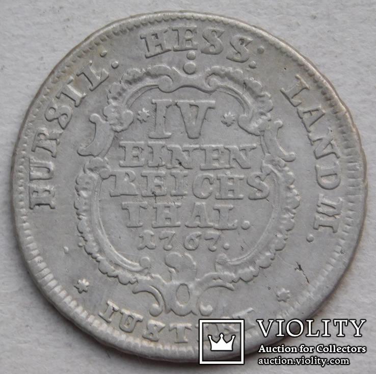 1/4 талера 1767 Гессен-Кассель Германия
