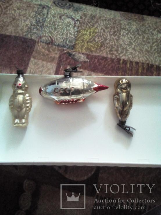 Старые ёлочные игрушки на прищепке. Космонавтика., фото №2