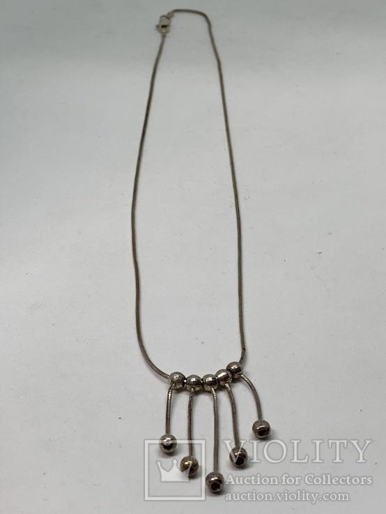 Итальянское серебрянное ожерелье