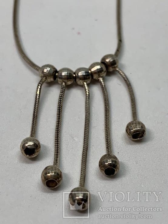 Итальянское серебрянное ожерелье, фото №3