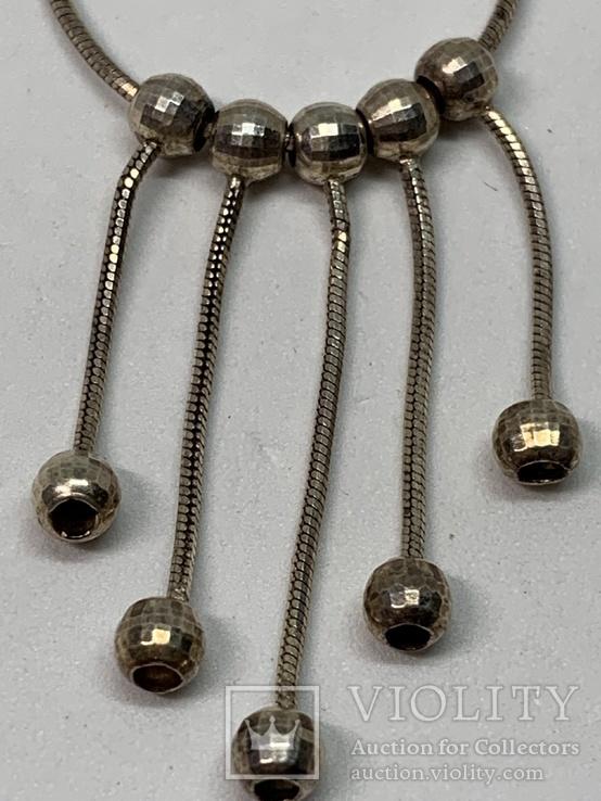 Итальянское серебрянное ожерелье, фото №6