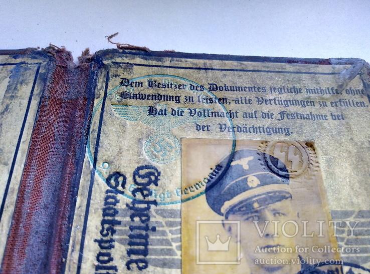 Копия. удостоверение. 3 рейх. сс. гестапо., фото №4