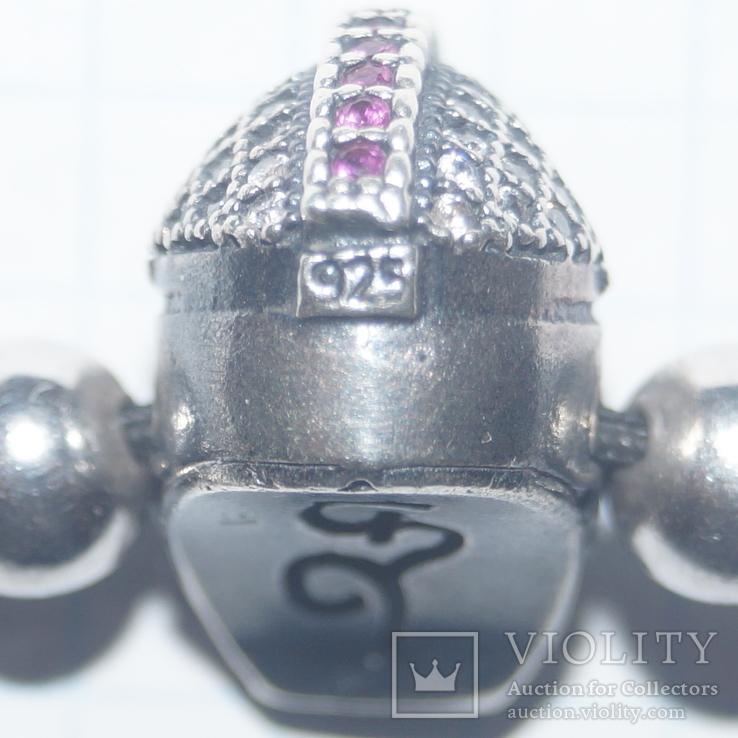 "Браслет""Рыцарский шлем""Серебро(925), фото №10"