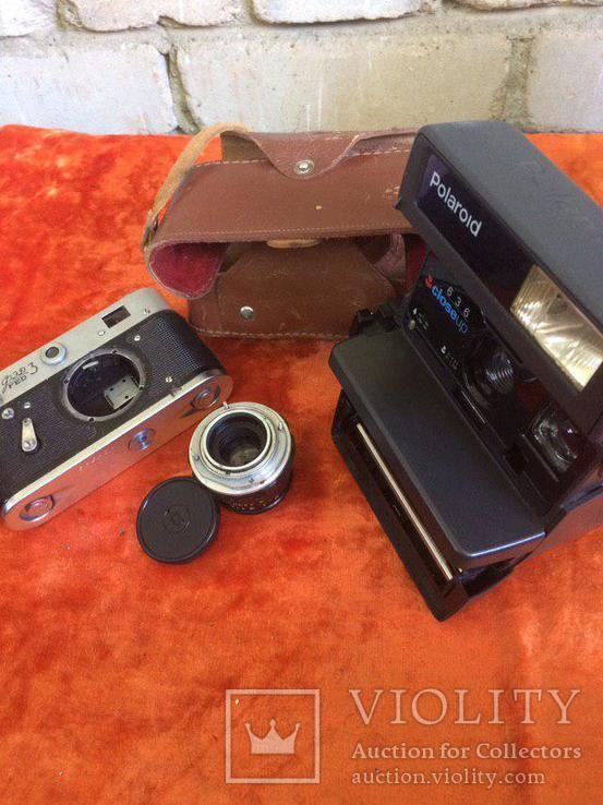 "Фотоаппарат ""полароид"", объектив индустар - 61 Л/Д, Тушка FED 3, кожаный чехол для FED 3, фото №3"