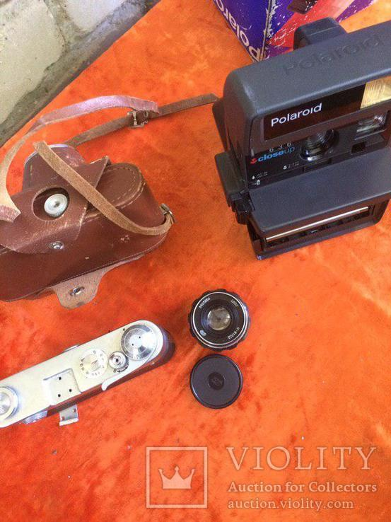 "Фотоаппарат ""полароид"", объектив индустар - 61 Л/Д, Тушка FED 3, кожаный чехол для FED 3, фото №4"