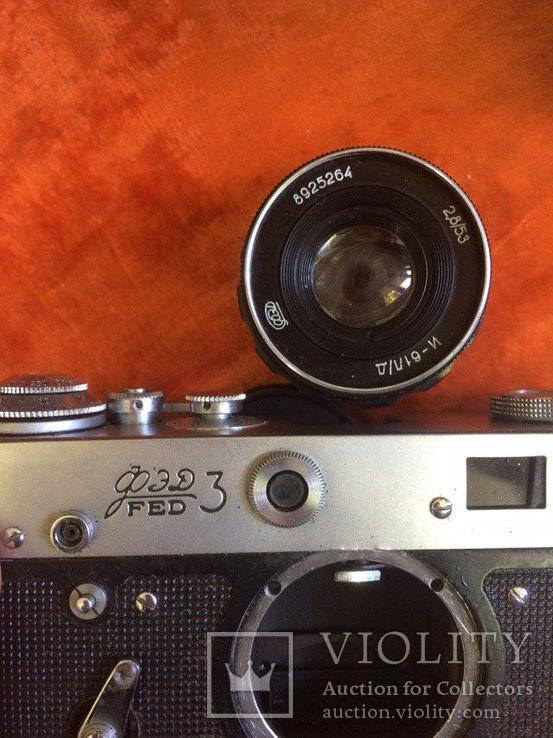 "Фотоаппарат ""полароид"", объектив индустар - 61 Л/Д, Тушка FED 3, кожаный чехол для FED 3, фото №7"
