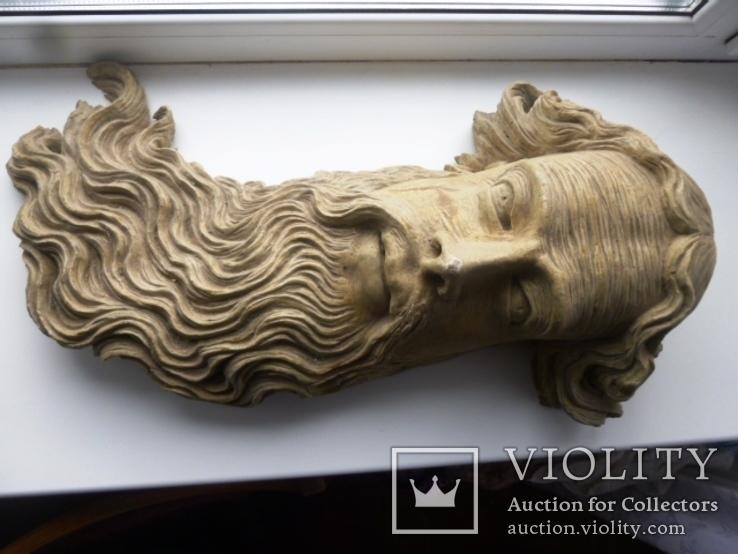Полихромная скульптура. Голова ( частина Амвона ), фото №5
