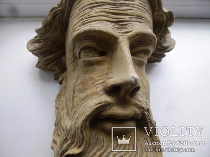 Полихромная скульптура. Голова ( частина Амвона ), фото №6