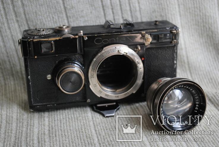 Фотоаппарат Contax № X 62436, Sonnar 2/5 cm № 1518461 №3, фото №11