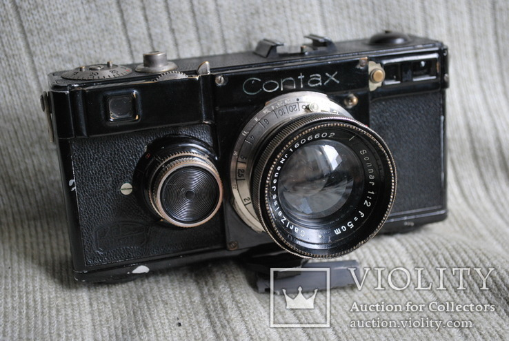 Фотоаппарат Contax № Y 33035, Sonnar 2/5 cm № 1606602 №2