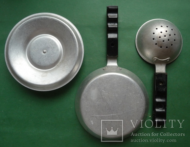 Сковорода и дуршлаг ( алюминий , карболит .), фото №6