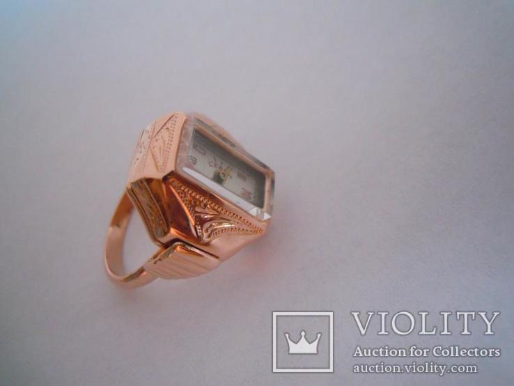 Золотые часы перстень 583