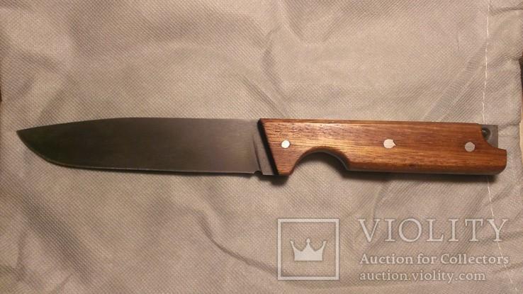 Нож ручной работы 9ХВ + красное дерево