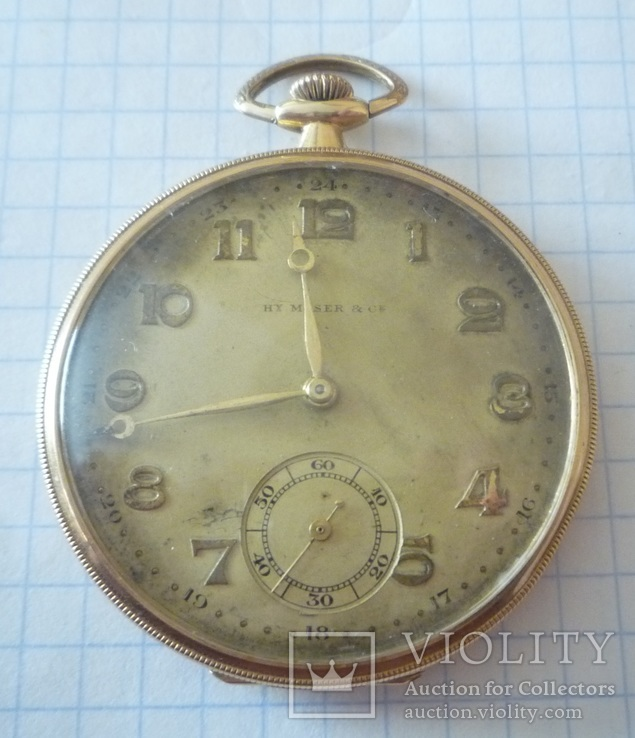 Золотые часы Генри Мозер
