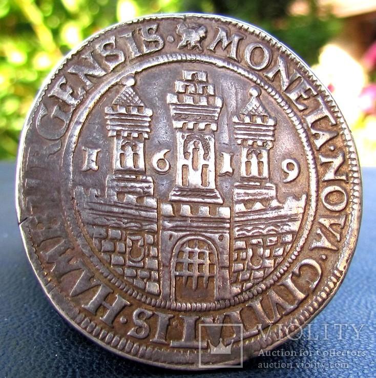 Талер 1619 р. Гамбург Матіас R