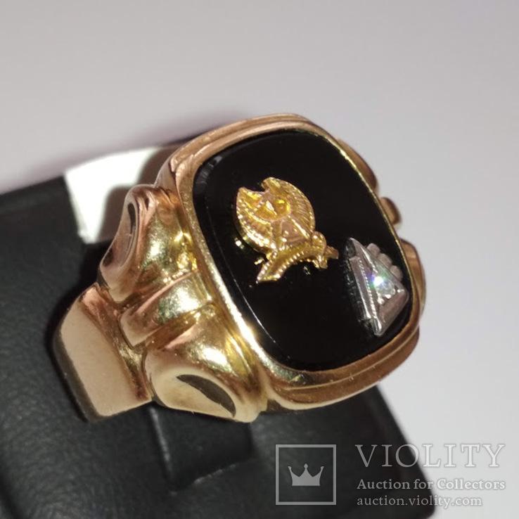 Золотое мужское масонское кольцо, фото №3