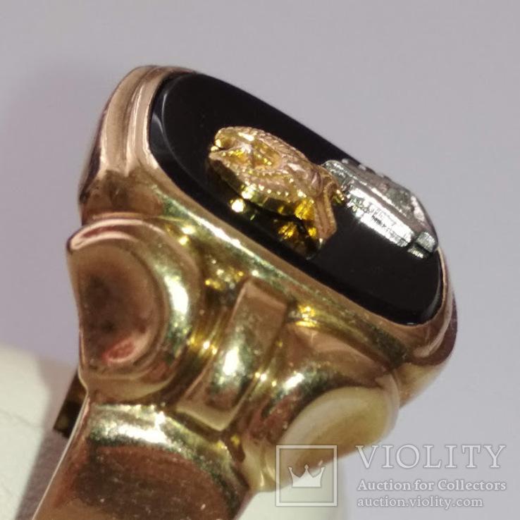 Золотое мужское масонское кольцо, фото №4