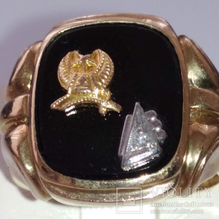 Золотое мужское масонское кольцо, фото №8