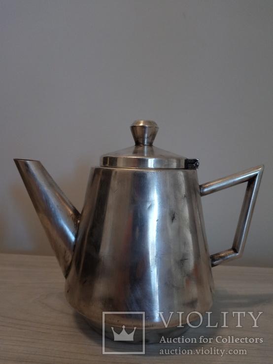 Чайник Европа 30-40года Посеребрен Клеймо мастера, фото №5