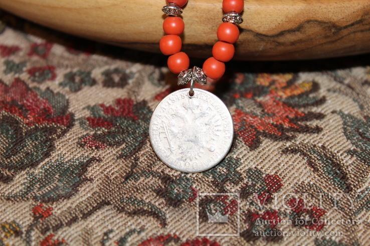 Старе намисто срібна монета, фото №5