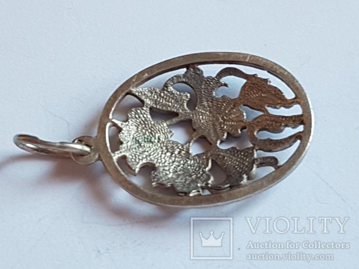 Советский кулон. Серебро 875 проба. Вес 4 г., фото №9