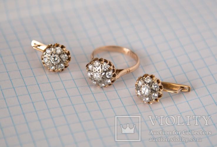 Комплект с бриллиантами, фото №10