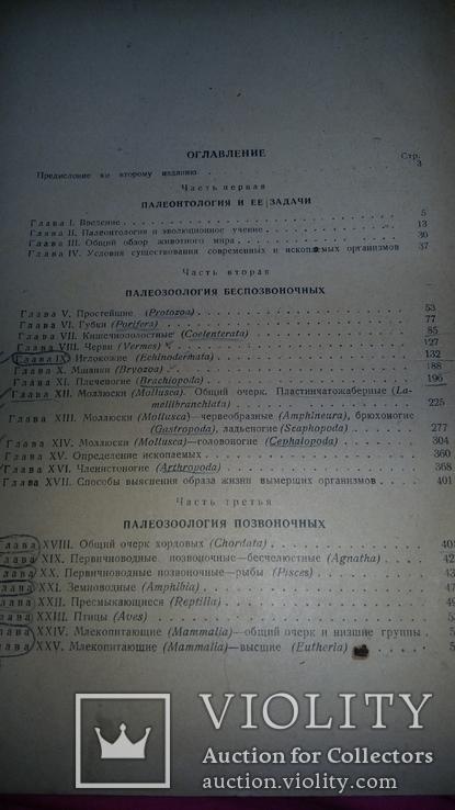 "Курс палеонталогии""Л.Ш.Давиташвили 1949г,тир.5000., фото №4"