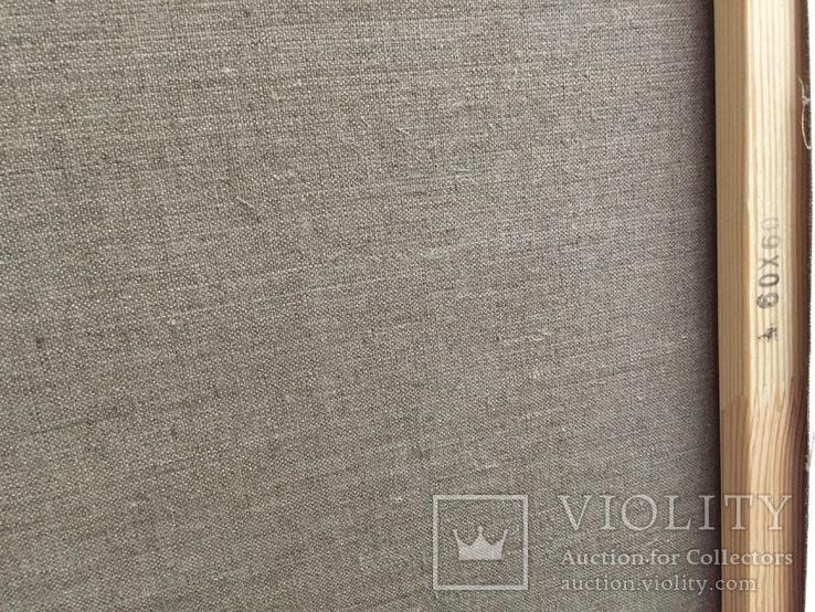 Полевые цветочки масло холст лен 60/60см, фото №3
