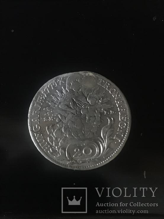 20 крейцеров 1774, фото №3