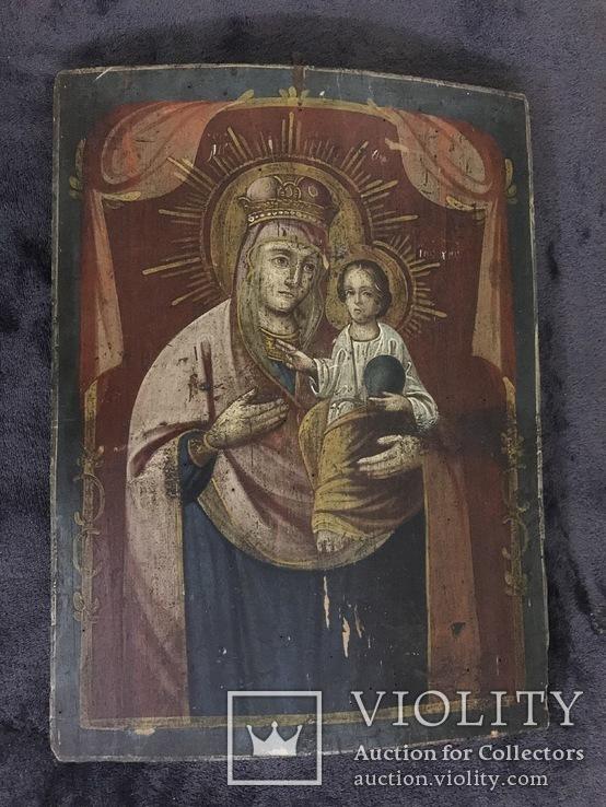19 век, Украинская домашняя икона. Богородица., фото №8