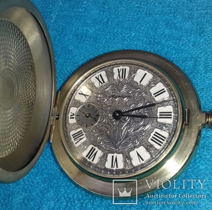 Часы карманные Молния 80 лет транспортная милиция россии (редкие), фото №6