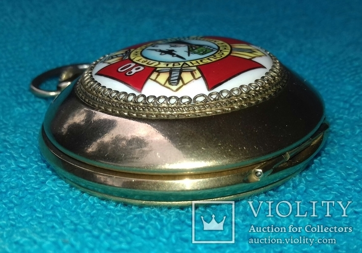 Часы карманные Молния 80 лет транспортная милиция россии (редкие), фото №9
