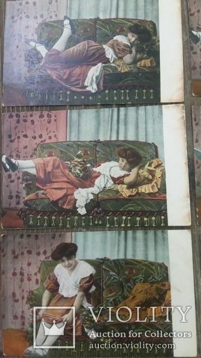 Серия открыток до 1917г.6 штук, фото №4
