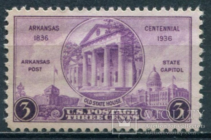 1936 США 100-летие Арканзасской государственности, фото №2