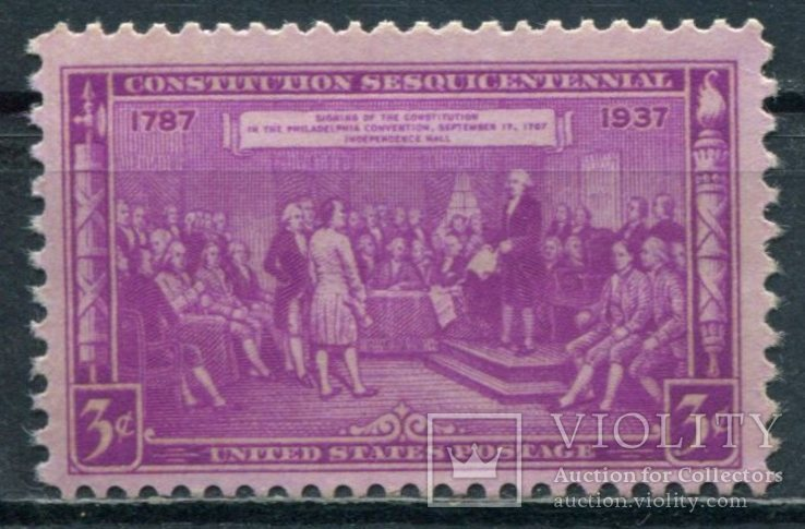 1937 США  150-летие Конституции 3С