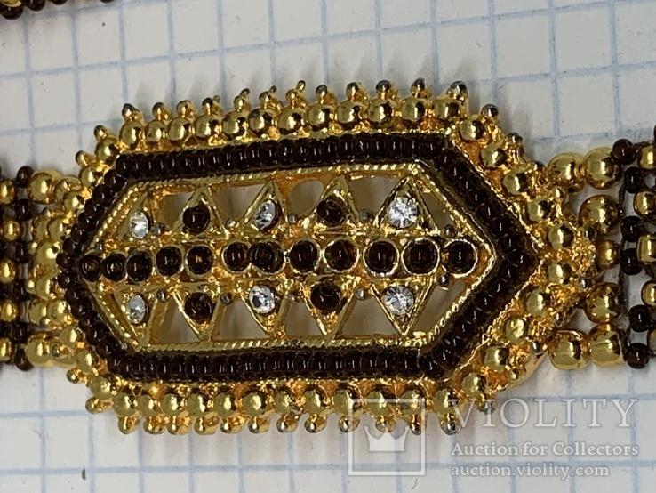 Золотистый новый браслет с Англии 38 грамм, фото №3