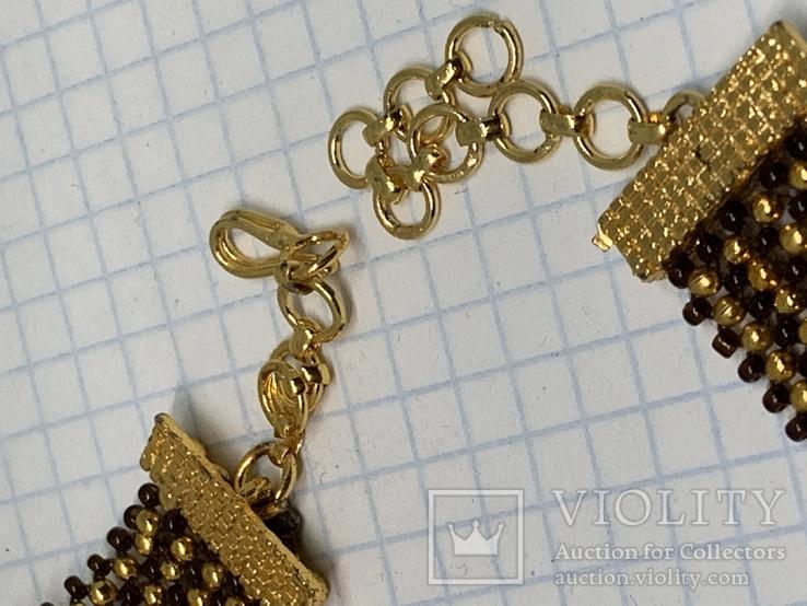 Золотистый новый браслет с Англии 38 грамм, фото №5