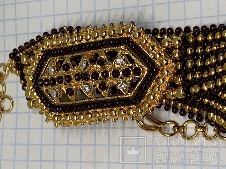 Золотистый новый браслет с Англии 38 грамм, фото №6