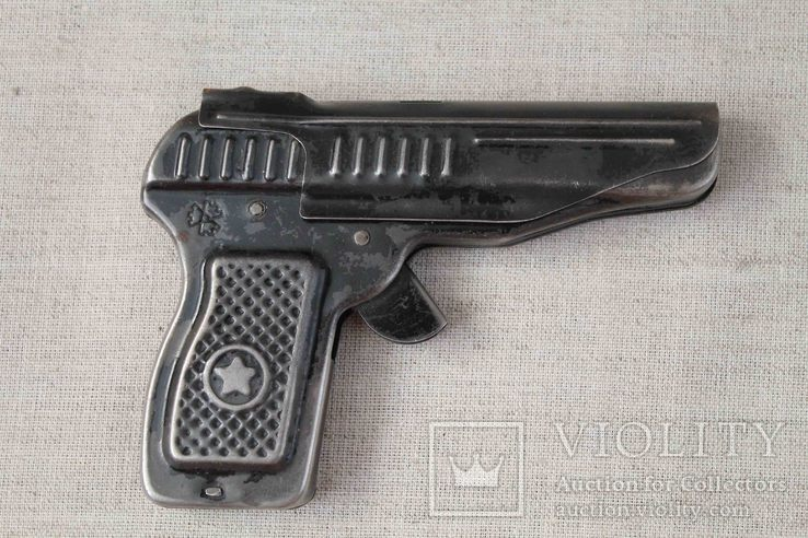 Игрушечный пистолет под пистоны Макорова с кобурой СССР, фото №3