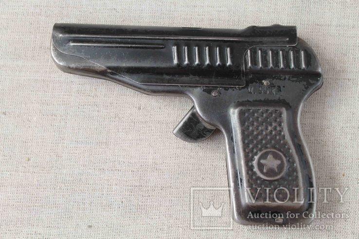 Игрушечный пистолет под пистоны Макорова с кобурой СССР, фото №4