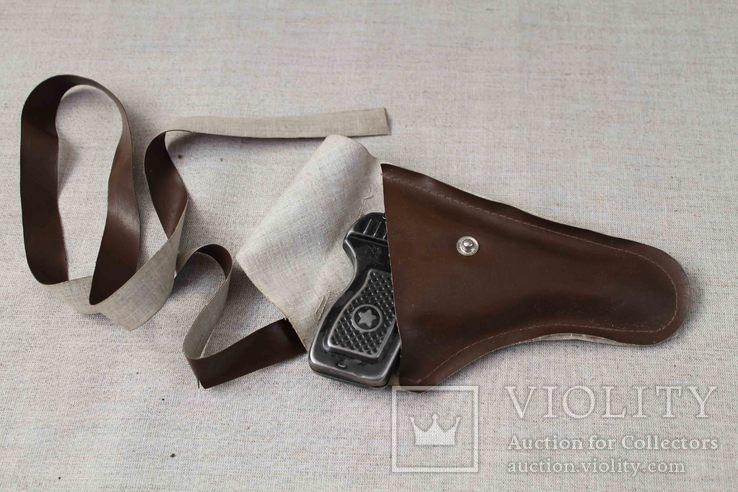 Игрушечный пистолет под пистоны Макорова с кобурой СССР, фото №10