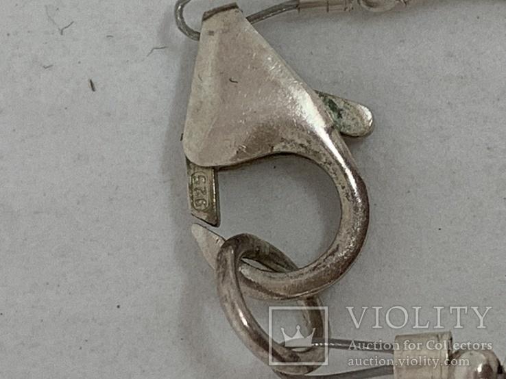 Серебрянное колье 925 пробы с Англии 18,35 грамм, фото №7