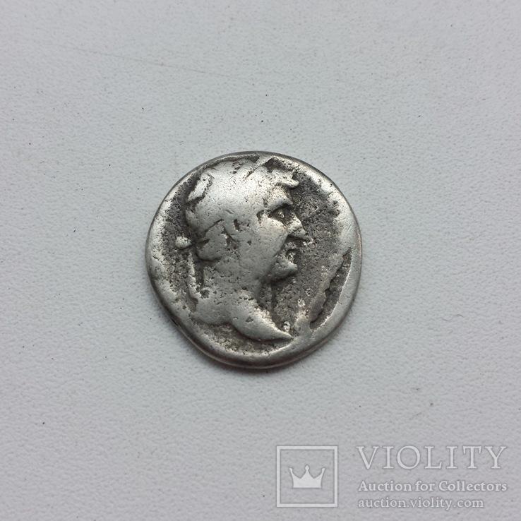 Лимесный денарий Адриана, серебро.