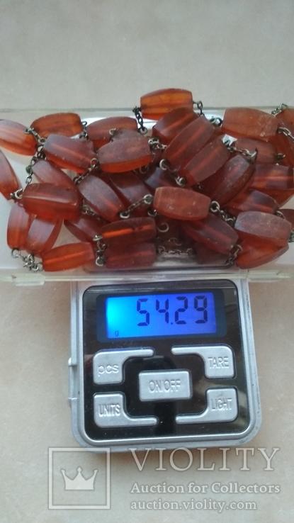 Янтарные бусы 54 грамма, фото №3